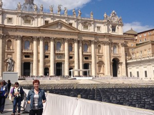Tricia at the Vatican